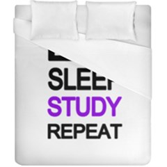 Eat Sleep Study Repeat Duvet Cover (california King Size) by Valentinaart