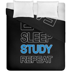 Eat Sleep Study Repeat Duvet Cover Double Side (california King Size) by Valentinaart