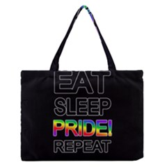 Eat Sleep Pride Repeat Medium Zipper Tote Bag by Valentinaart