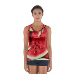 Fresh Watermelon Slices Texture Women s Sport Tank Top  by Gogogo