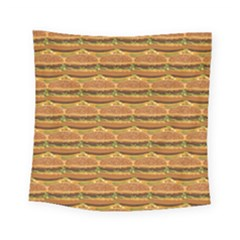 Delicious Burger Pattern Square Tapestry (small) by berwies