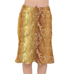 Golden Pattern Vintage Gradient Vector Mermaid Skirt by Gogogo
