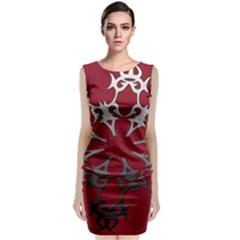 Ethnic Classic Sleeveless Midi Dress by mugebasakclothing
