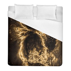Space Duvet Cover (full/ Double Size) by Valentinaart