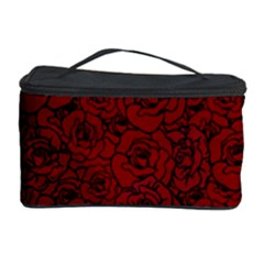 Red Roses Field Cosmetic Storage Case by designworld65