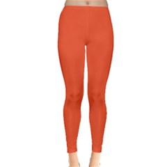 Trendy Basics - Trend Color FLAME Leggings  by tarastyle