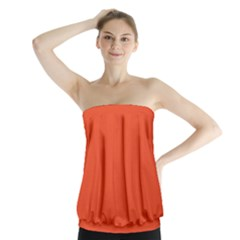 Trendy Basics   Trend Color Flame Strapless Top by tarastyle