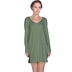 Trendy Basics   Trend Color Kale Long Sleeve Nightdress by tarastyle
