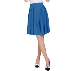 Trendy Basics - Trend Color LAPIS BLUE A-Line Skirt by tarastyle