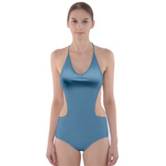 Trendy Basics   Trend Color Niagara Cut Out One Piece Swimsuit by tarastyle