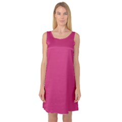 Trendy Basics   Trend Color Pink Yarrow Sleeveless Satin Nightdress by tarastyle