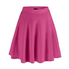 Trendy Basics - Trend Color PINK YARROW High Waist Skirt by tarastyle