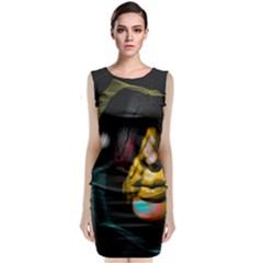 Shaman Classic Sleeveless Midi Dress by mugebasakclothing