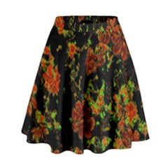Floral Dreams 12 C High Waist Skirt by MoreColorsinLife