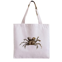 Dark Crab Photo Zipper Grocery Tote Bag by dflcprints