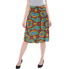 Geometric Multicolored Print Midi Beach Skirt by dflcprintsclothing