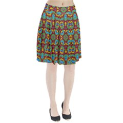 Geometric Multicolored Print Pleated Skirt by dflcprintsclothing