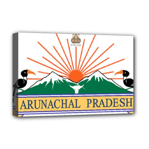 Seal Of Indian State Of Arunachal Pradesh  Deluxe Canvas 18  X 12   by abbeyz71