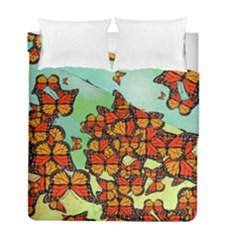 Monarch Butterflies Duvet Cover Double Side (full/ Double Size) by linceazul