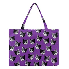 Cat Pattern Medium Tote Bag by Valentinaart