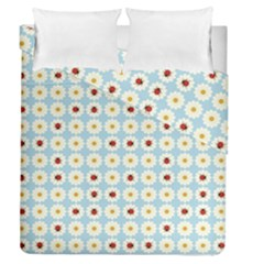 Ladybugs Pattern Duvet Cover Double Side (queen Size) by linceazul