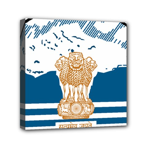 Seal Of Indian Sate Of Himachal Pradesh Mini Canvas 6  X 6  by abbeyz71