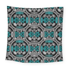 Geometric Arabesque Square Tapestry (large) by linceazul