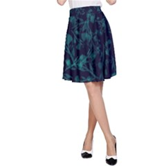 leaf pattern A-Line Skirt by berwies