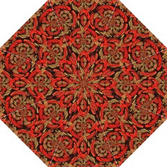 Red And Brown Pattern Golf Umbrellas by linceazul