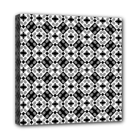 Geometric Modern Baroque Pattern Mini Canvas 8  X 8  by dflcprints