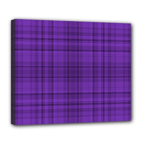 Plaid Design Deluxe Canvas 24  X 20   by Valentinaart