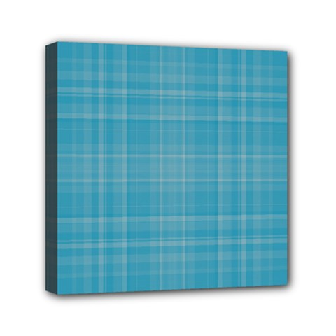 Plaid Design Mini Canvas 6  X 6  by Valentinaart