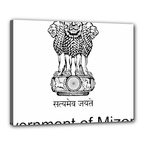 Seal Of Indian State Of Mizoram Canvas 20  X 16  by abbeyz71