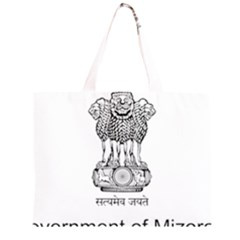 Seal Of Indian State Of Mizoram Zipper Large Tote Bag by abbeyz71