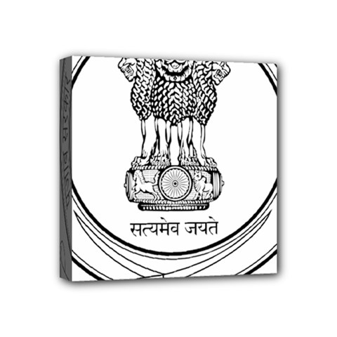 Seal Of Indian State Of Punjab Mini Canvas 4  X 4  by abbeyz71