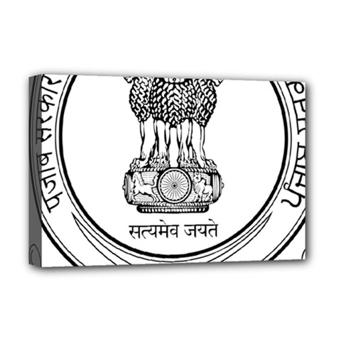 Seal Of Indian State Of Punjab Deluxe Canvas 18  X 12   by abbeyz71