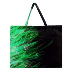 Fire Zipper Large Tote Bag by Valentinaart