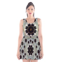 Wood In The Soft Fire Galaxy Pop Art Scoop Neck Skater Dress by pepitasart