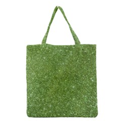 Green Glitter Abstract Texture Grocery Tote Bag by dflcprints