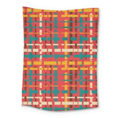 Colorful Line Segments Medium Tapestry by linceazul