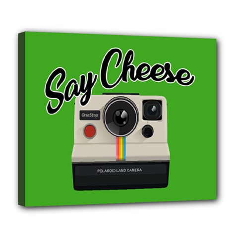 Say Cheese Deluxe Canvas 24  X 20   by Valentinaart