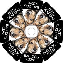 Bad Dog Hook Handle Umbrellas (medium) by Valentinaart