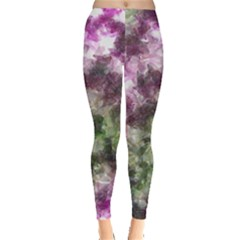 Purple green paint texture          Leggings by LalyLauraFLM