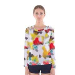 Colorful Paint Stokes           Women Long Sleeve T Shirt by LalyLauraFLM