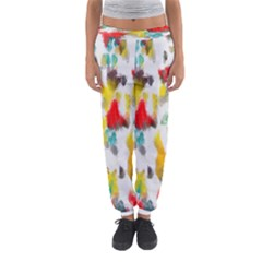 Colorful Paint Stokes           Women s Jogger Sweatpants by LalyLauraFLM