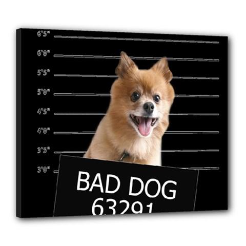 Bad Dog Canvas 24  X 20  by Valentinaart