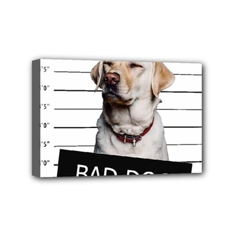 Bad Dog Mini Canvas 6  X 4  by Valentinaart