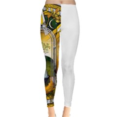 Samhain Sabbat Pentacle Leggings  by NaumaddicArts