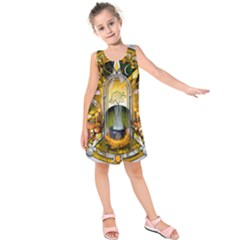 Samhain Sabbat Pentacle Kids  Sleeveless Dress by NaumaddicArts