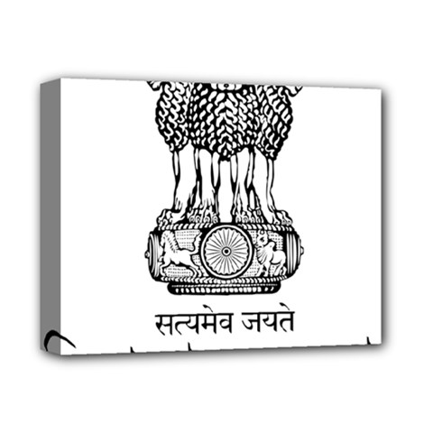 Seal Of Indian State Of Tripura Deluxe Canvas 14  X 11  by abbeyz71